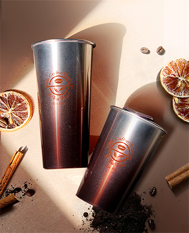 2019 03 Brown Gradation Steel Tumbler