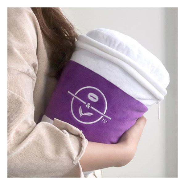 커피빈 담요&쿠션 (퍼플핫컵)  상세이미지 1