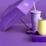 커피빈 접이식 우산(클래식퍼플) 썸네일 이미지 3
