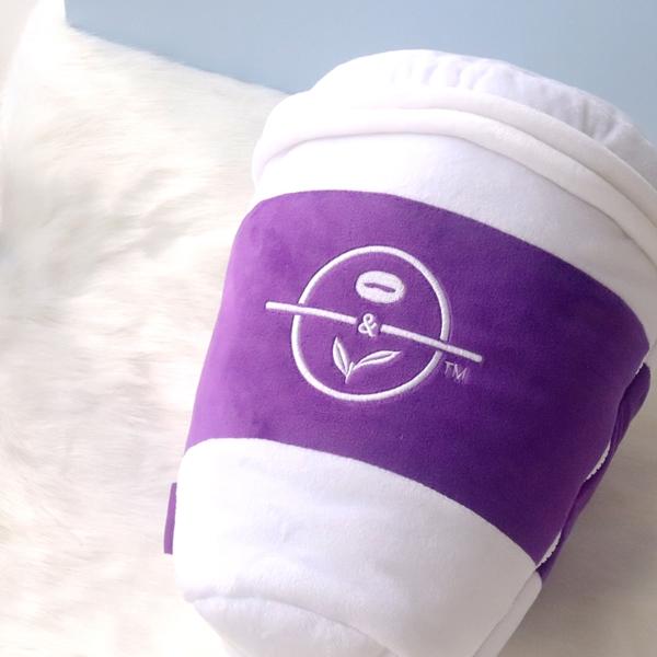 커피빈 담요&쿠션 (퍼플핫컵)  상세이미지 3
