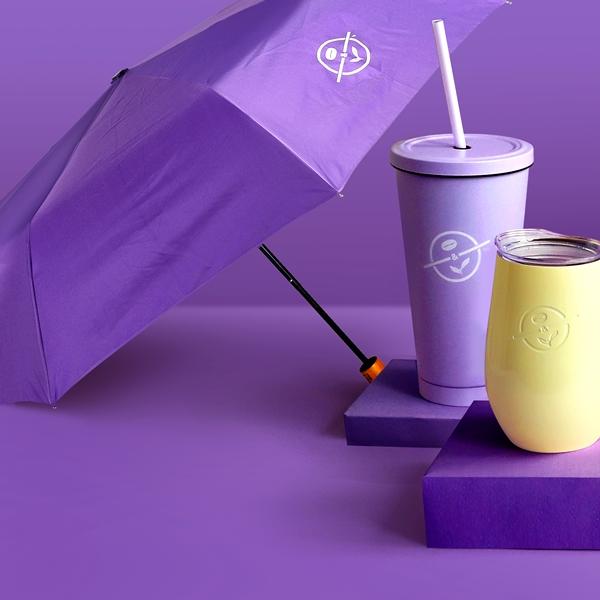커피빈 접이식 우산(클래식퍼플) 상세이미지 3