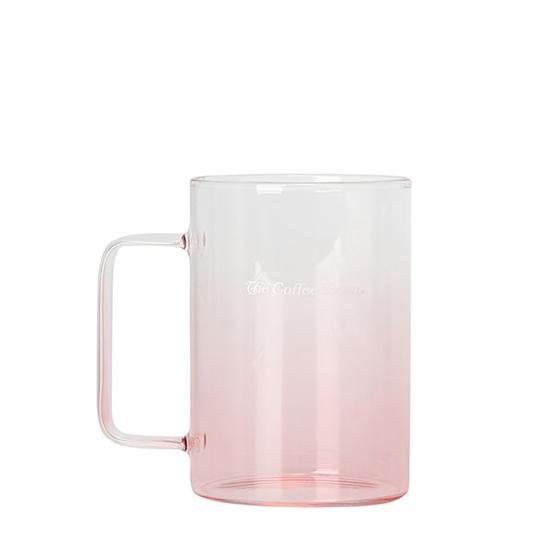 핑크 그라데이션 글라스머그